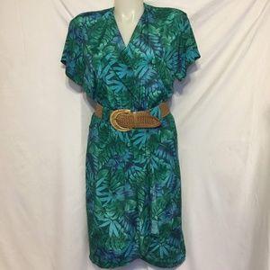 Authentic Vintage Tropical Wrap Dress